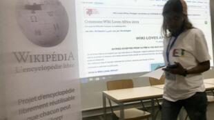 Meeting at Wiki Africa in Dakar