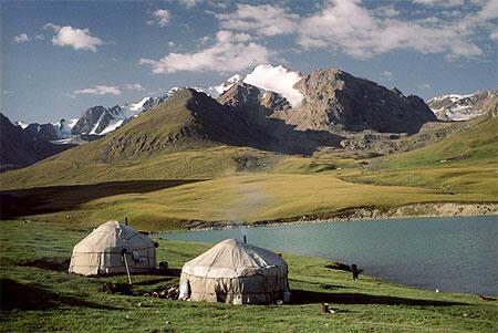 Горные пастбища Кыргызстана