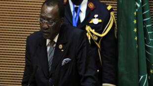 Le président tchadien Idriss Déby au sommet de l'Union africaine, à Addis-Abeba, le 30 janvier 2016. Idriss Déby va assurer la présidence tournante de l'UA pendant un an.