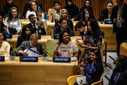 Hội nghị Khí hậu của giới trẻ: Thanh thiếu niên đến từ 140 quốc gia tại Hội trường Liên Hiệp Quốc. Ảnh ngày 21/09/2019.