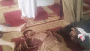 تصویری از حمله به مسجد امام رضا، در منطقه الاحساء