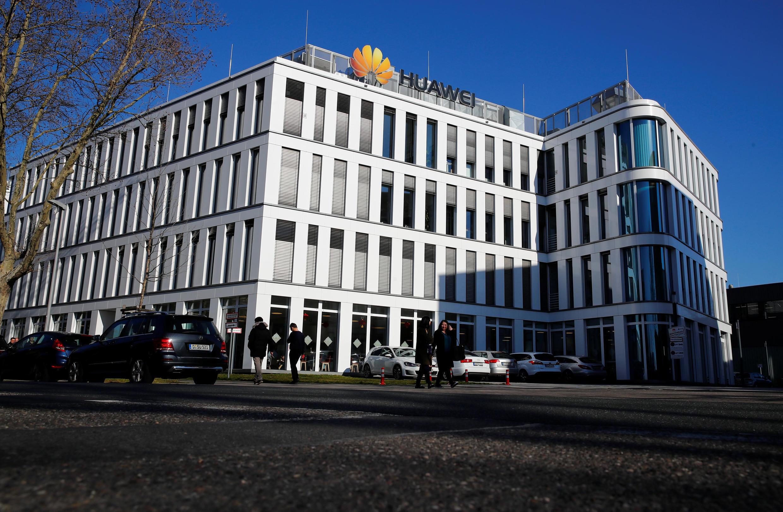 Trụ sở của tập đoàn viễn thông Trung Quốc Hoa Vi (Huawei) tại Duesseldorf, Đức. (Ảnh chụp ngày 18/02/2019)