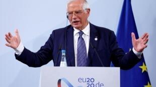Josep Borrell, le chef de la diplomatie européenne, à Berlin le 26 août 2020.