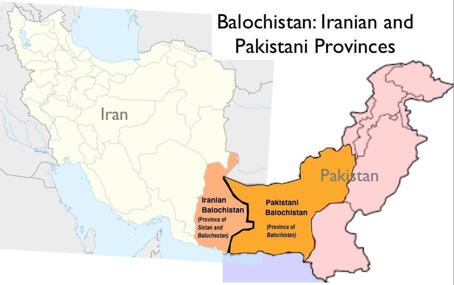 موقعیت جغرافیایی بلوچستان ایران و بلوچستان پاکستان