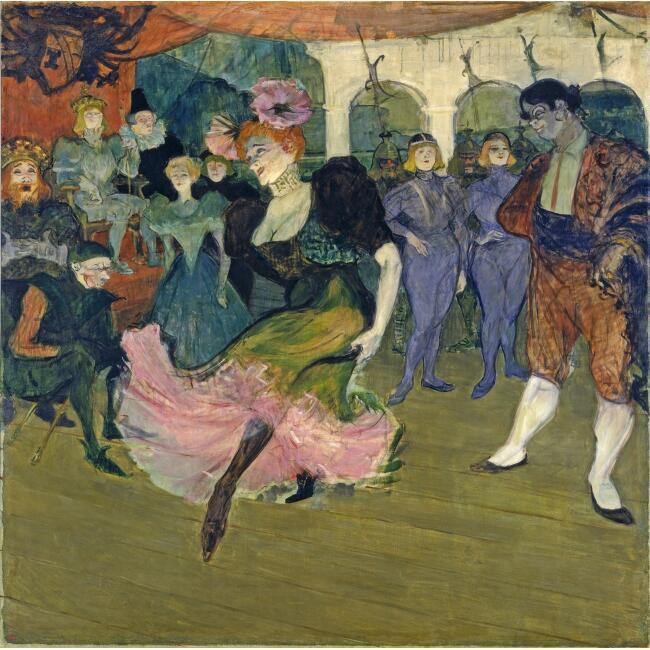 "Henri de Toulouse-Lautrec ""Marcelle Lender dansant le boléro dans Chilpéric"", 1895-1896. Washington, National Gallery of Art, collection of Mr and Mrs John Hay Whitney."