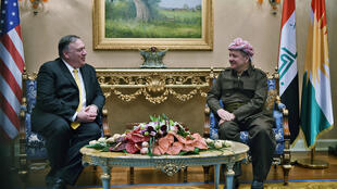 Le secrétaire d'Etat américain Mike Pompeo a notamment rencontré Masoud Barzani, le leader du Parti démocratique du Kurdistan, à Erbil, 9 janvier 2019.