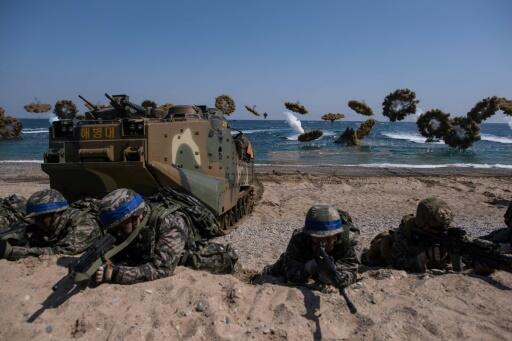 North Korea reguarly condemns the annual US-South Korea military drills as a rehearsal for war