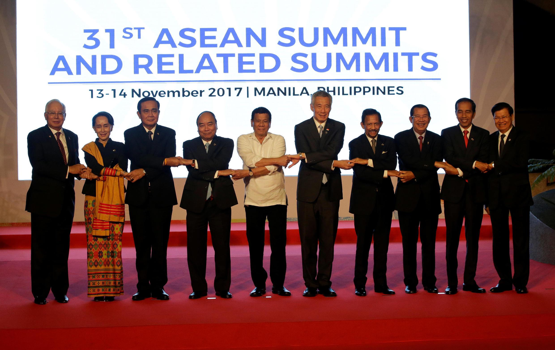 Thượng đỉnh ASEAN 31, tại Manila. Ảnh ngày 13/11/2017.