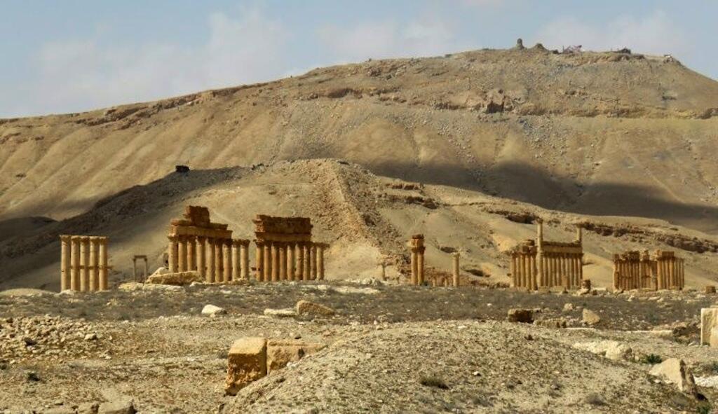 Uharibifu wa kundi la IS katika mji wa kale wa Palmyra, Machi 27, 2016.