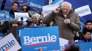 Le candidat socialiste Bernie Sanders à la primaire démocrate, en meeting à Salt Lake City dans l'Utah, le 2 mars 2020. (Photo d'illustration)