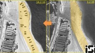 Ảnh vệ tinh chụp những hoạt động của Trung Quốc quân sự hóa đảo Phú Lâm, Hoàng Sa.