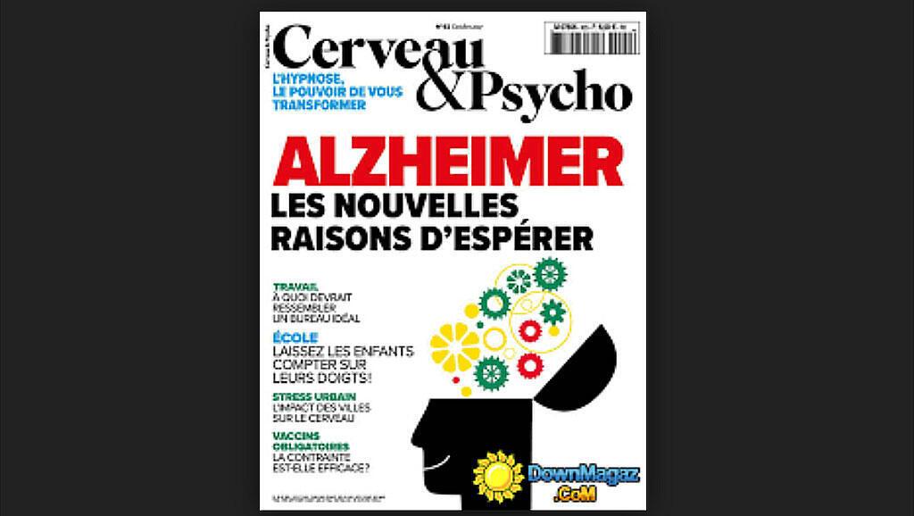 Couverture «Alzheimer les nouvelles raisons d'espérer», magazine Cerveau & Psycho.
