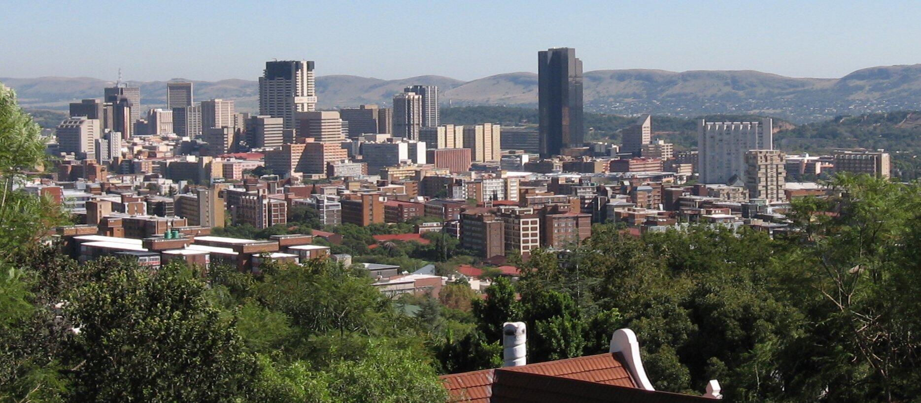 Une vue de Pretoria, la capitale de l'Afrique du Sud.