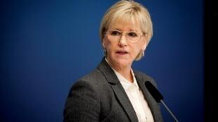 瑞典外交大臣瑪戈特·瓦爾斯特倫(Margot Wallstrom)2014年10月30日斯德哥爾摩。
