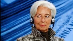 La directrice du FMI Christine Lagarde lors du forum de Davos, le 21 janvier 2016.