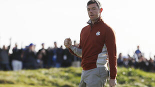 Rory McIlroy helped Europe surge into the lead at the end of the first day of the Ryder Cup.