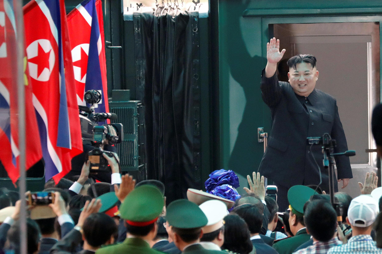 圖為朝鮮領袖金正恩2019年3月2日離開越南經中國返回平壤照片。