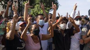 Cuba - L a Havane - manifestation