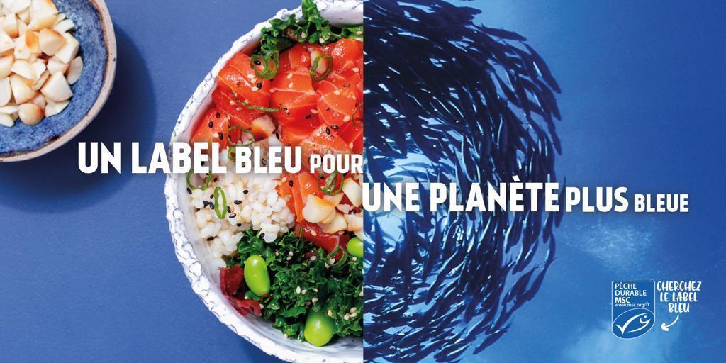 Un sello azul para un planeta azul.