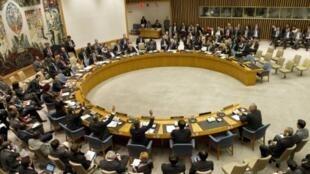 Les quinze membres du Conseil de sécurité de l'ONU ont voté pour l'envoi d'observateurs en Syrie, samedi 14 avril 2012.