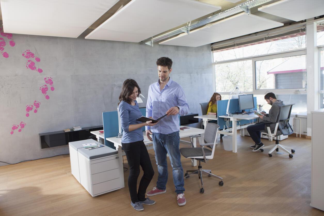 En France les bureaux individuels résistent encore avec un tiers des actifs qui y travaillent, alors qu'en Angleterre 3 salariés sur 4 travaillent dans un open space.