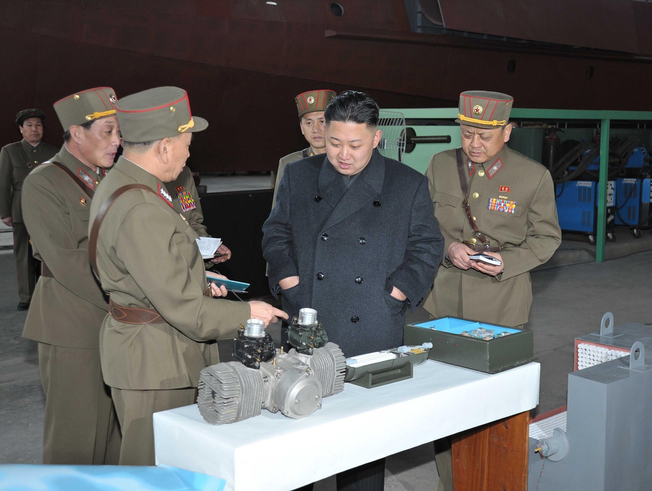 Lãnh đạo Bắc Triều Tiên tại vị 1501 của Quân đội. Ảnh ngày 24/03/2013