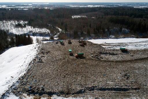 Bãi rác Yadrovo, gần thị trấn Volokolamsk, cách Matxcơva 120 km.