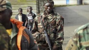 Un soldat du M23 à Goma en novembre 2012.