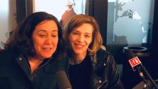 De gauche à droite: Cathy Verney et Céline Sallette.
