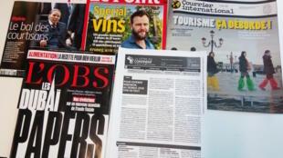 Capas de semanários sobre actualidade africana e mundial de 08/10/2018