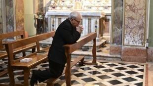 Mgr Giulio Dellavite, secrétaire général de la curie de Bergame, ici le 25 mars 2020.