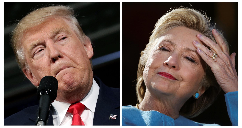 Os candidatos à Presidência dos EUA, Donald Trump e Hillary Clinton, disputam cada voto na reta final da campanha.