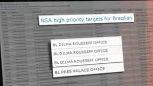 Lista dos telefones grampeados pela NSA.
