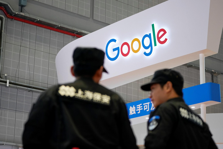 Gian trưng bày của Google tại Hội Chợ Xuất Nhập Khẩu TQ - Thượng Hải. Ảnh 05/11/2018.