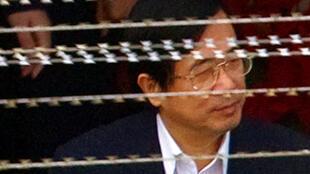 前台灣總統陳水扁2009年3月26日在看守所內。
