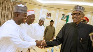 Shugaban Najeriya Muhammadu Buhari tare da wasu gwamnonin jihohin kasar.