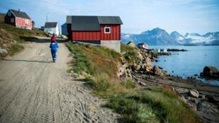 格陵蘭島東南海岸定居點Kulusuk2019年8月21日。