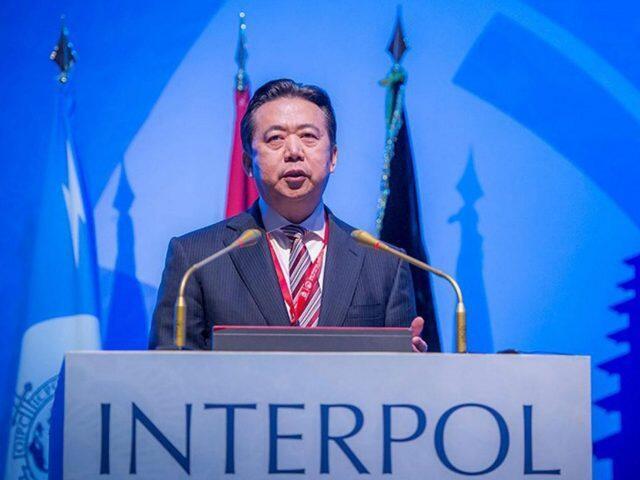 图为前国际刑警组织主席,前中国公安部副部长孟宏伟会议照