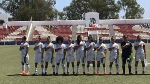 Les féminines de l'équipe d'Algérie en U20.