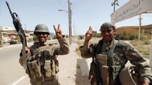 Militares iraquíes en el centro de Faluya, 17 de junio de 2016.