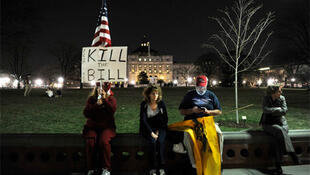 Protestors stage a vigil outside the White House in opposition to President Obama's health care legislation.