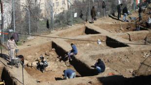 Un site archéologique dans la ville d'Hébron, en Cisjordanie.