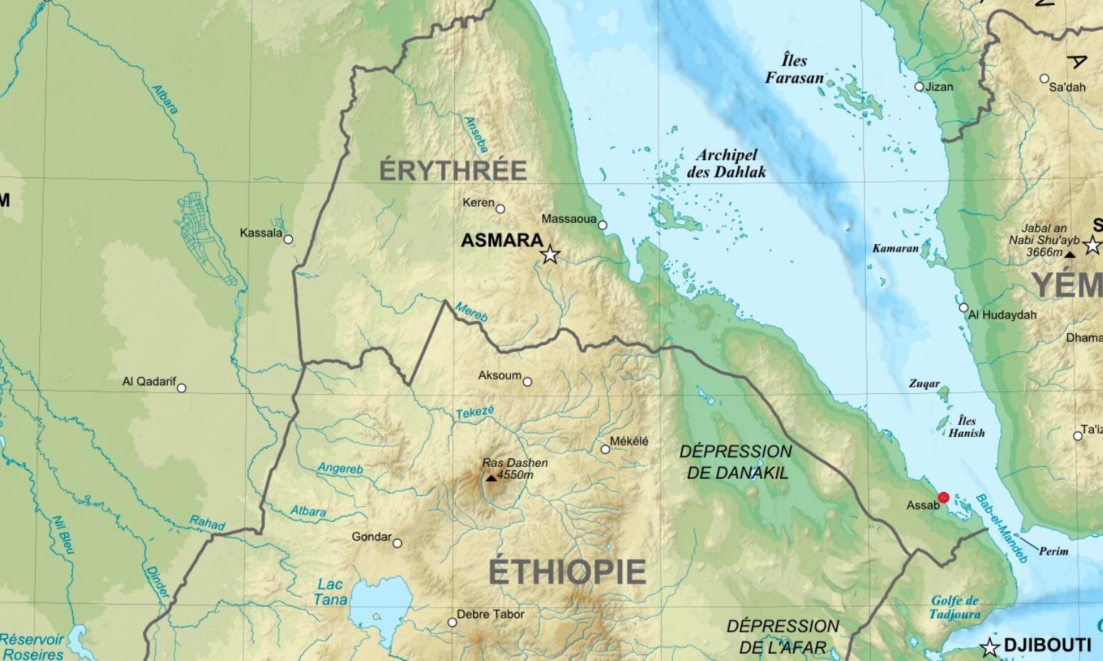 L'Erythrée loue depuis l'année dernière une base aéronavale aux Emirats et à l'Arabie saoudite dans le port d'Assab.
