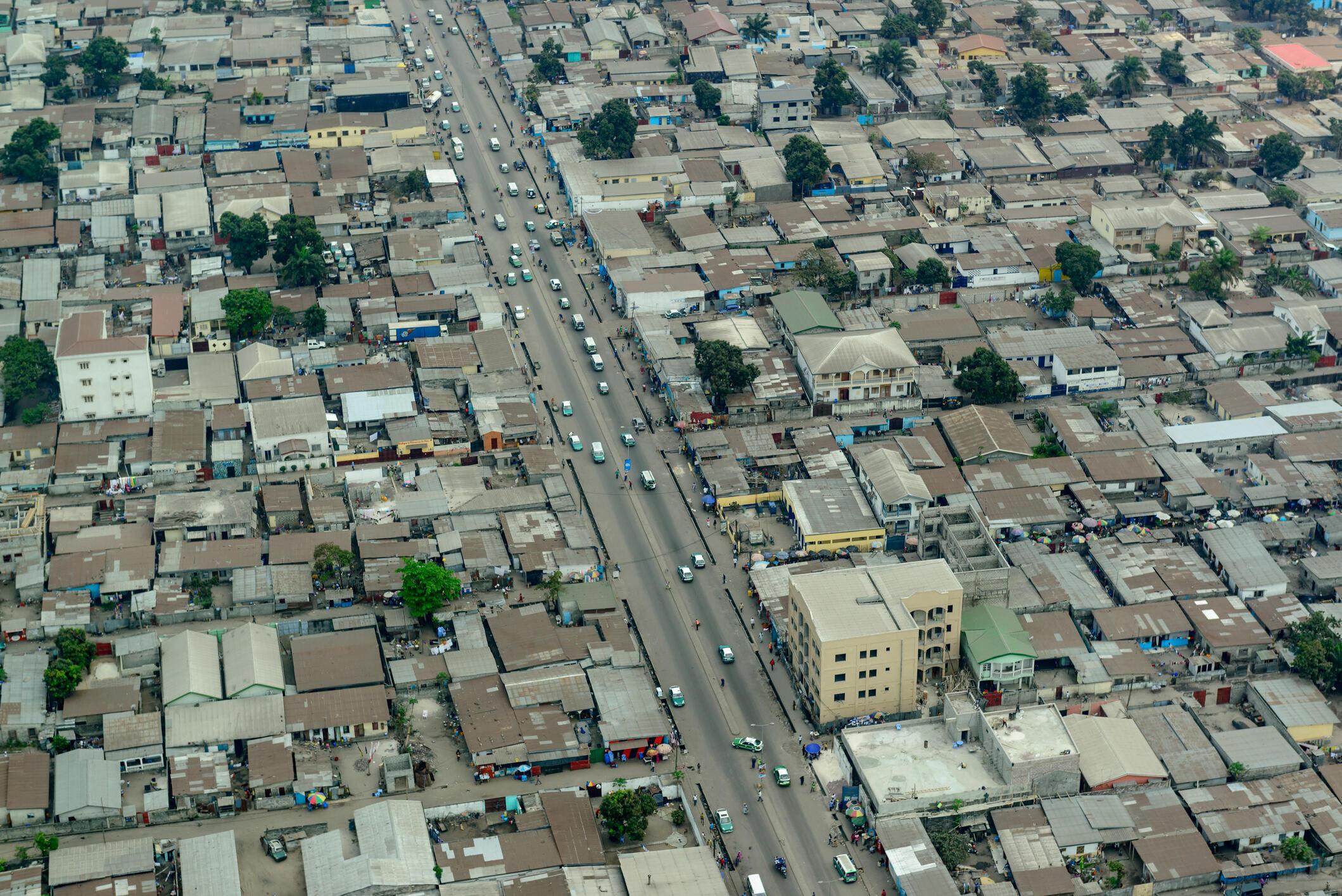 Une vue aérienne de Brazzaville au Congo (image d'illustration).
