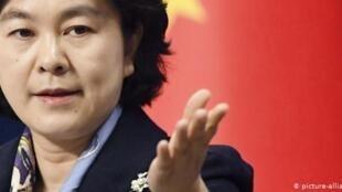 Hua Chunying , une porte-parole du ministère des Affaires étrangères chinois