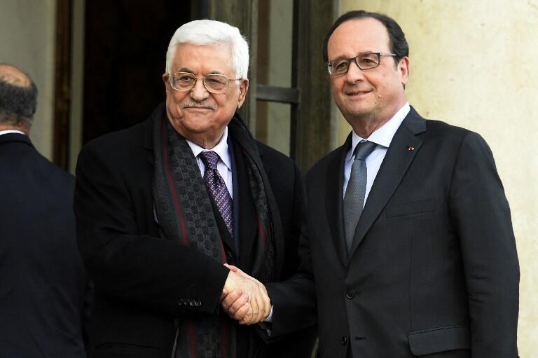 Mahmoud Abbas a été reçu par François Hollande le 15 avril à Paris.