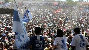 Thousands gathered on Sunday to show their support for the new constitution being voted on today