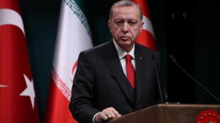 Le président turc Recep Tayyip Erdogan à Ankara le 20 décembre 2018.