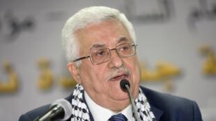 Le président palestinien Mahmoud Abbas à Bethléem en Cisjordanie, le 8 août 2009.