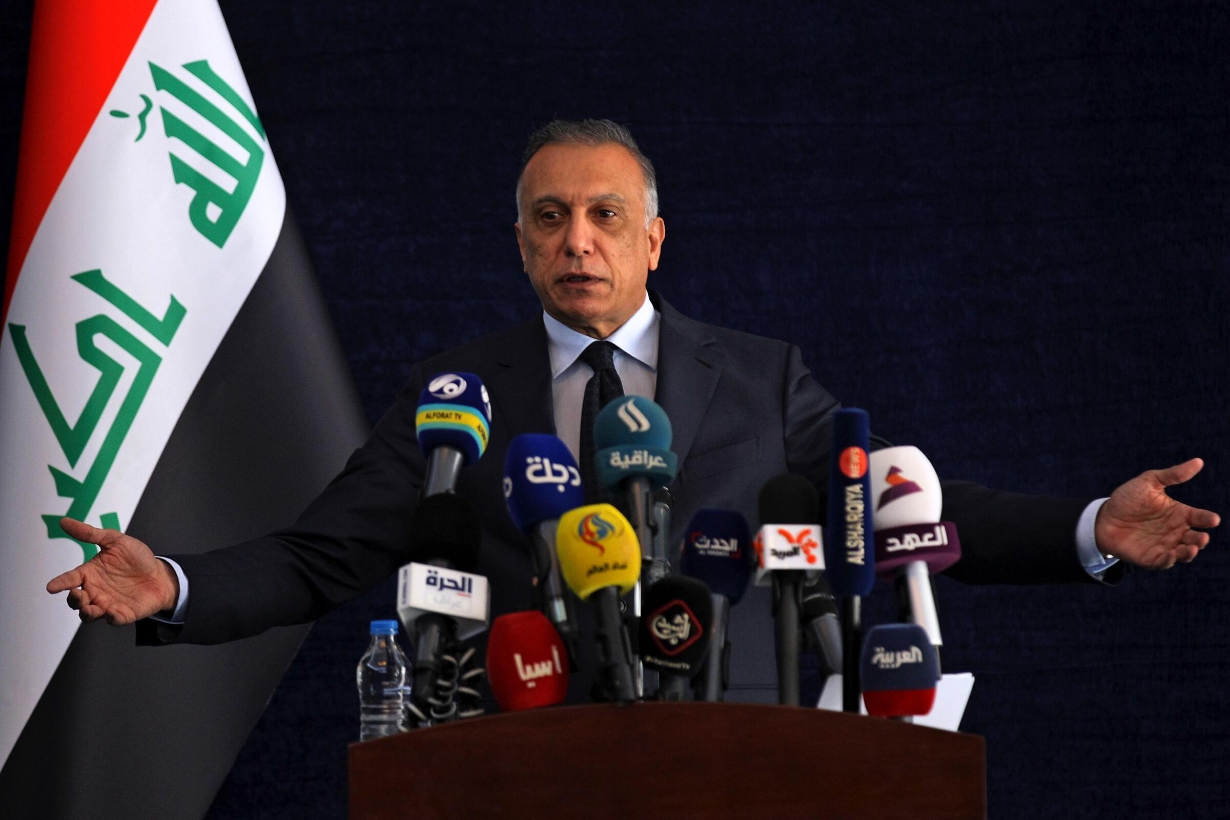 مصطفی کاظمی نخست وزیر عراق. .